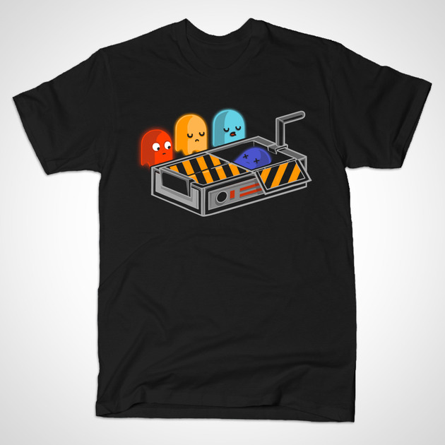 pac-man-ghost-busted-tshirt