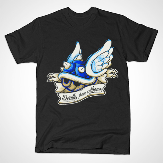 Mario Kart Death From Above Blue Shell T Shirt Nerd Realm